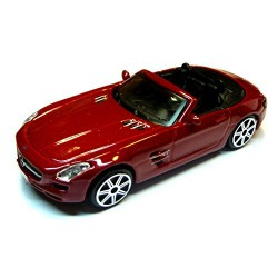 2011 Mercedes-Benz SLS AMG Roadster [Bburago 30010], Red, 1:43 Die Cast