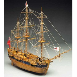 Mantua Model Endevour Kit in Legno Vascello di Capitan J.Cook Scala 1:60 810mm 774