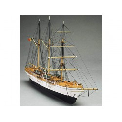 Mantua Model Kit Nave in Legno 1:120 Nave Scuola Belga 640 mm 757 Made in Italy Galeone Vascello