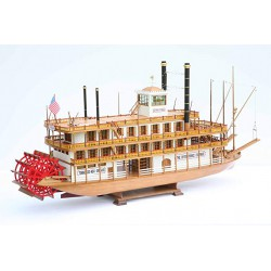 Mantua Model Sergal Battello a Vapore Mississippi 1870 1:50 Kit in Legno Made in Italy Art.734