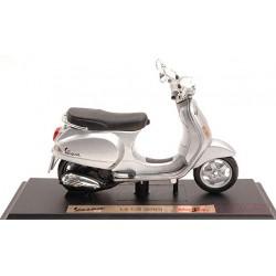 NEW MAISTO MI5092S Vespa LX 125 2005 Silver 1:18 MODELLINO Die Cast Model