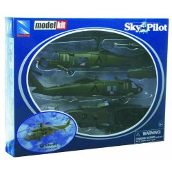 Newray 25565 - Sky Pilot Model Kit, Sikorsky Uh-60 Black Hawk, Scala 1:60