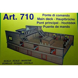 Mantua Model Kit in Legno Ponte di Comando Galeone XV Secolo Scala 1 75 Art.710