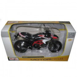 2013 Ducati Hypermotard SP White Motorcycle Model 1/12 by Maisto 13015