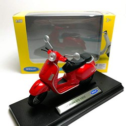 Welly 1:18 Die-Cast 2017 Vespa GTS 125CC Scooter Motorcycle Red Model with Box Collection Christmas New Gift