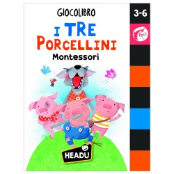 Headu GiocoLibro I Tre Porcellini  Metodo Montessori