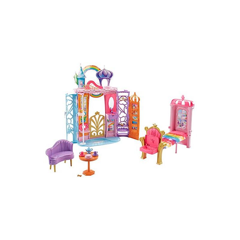 Letto A Castello Barbie.Castello Arcobaleno Di Barbie