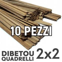 Listelli Dibetou mm. 2x2 Confezione 10 Pezzi