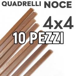 Listelli Noce mm. 4x4 Confezione 10 Pezzi