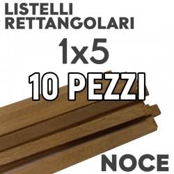 Listelli Modellismo Noce mm. 1x5 Rettangolari