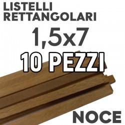 Listelli Modellismo Noce mm. 1,5x7 Rettangolari