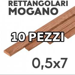 Listelli Rettangolari Mogano mm. 0,5x7 confezione 10 pezzi