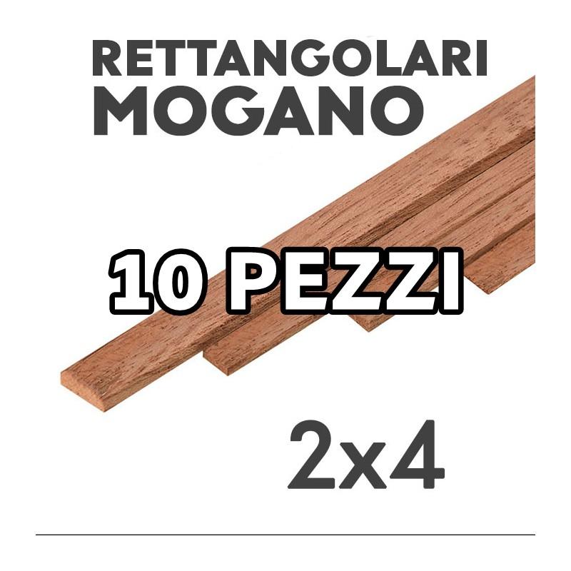 Listelli Rettangolari Mogano mm. 2x4 confezione 10 pezzi