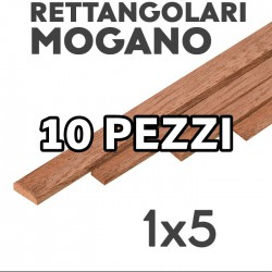 Listelli Rettangolari Mogano mm.1x5 confezione 10 pezzi