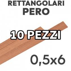 Listelli Rettangolari Pero mm. 0,5x6 confezione 10 pezzi