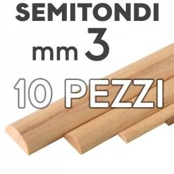Listelli Semitondi mm. 3 confezione 10 pezzi