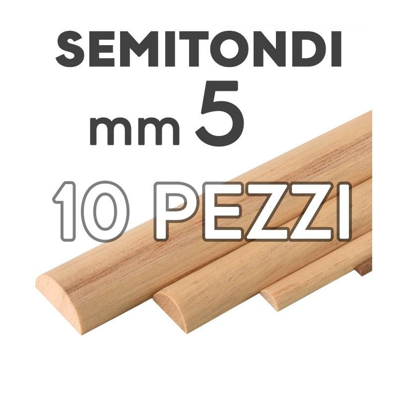 Listelli Semitondi mm. 5  confezione 10 pezzi