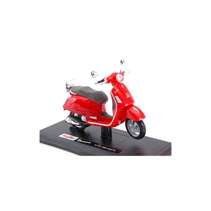 Vespa GTS 300 2017 Rossa Scala 1 18 MODELLINO Die Cast Model NEW MAISTO MI16889