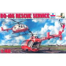 Esci Kit Elicottero Rescue Service BO-105 Helicopter Scala 1 48 Kit Rare Art 4056