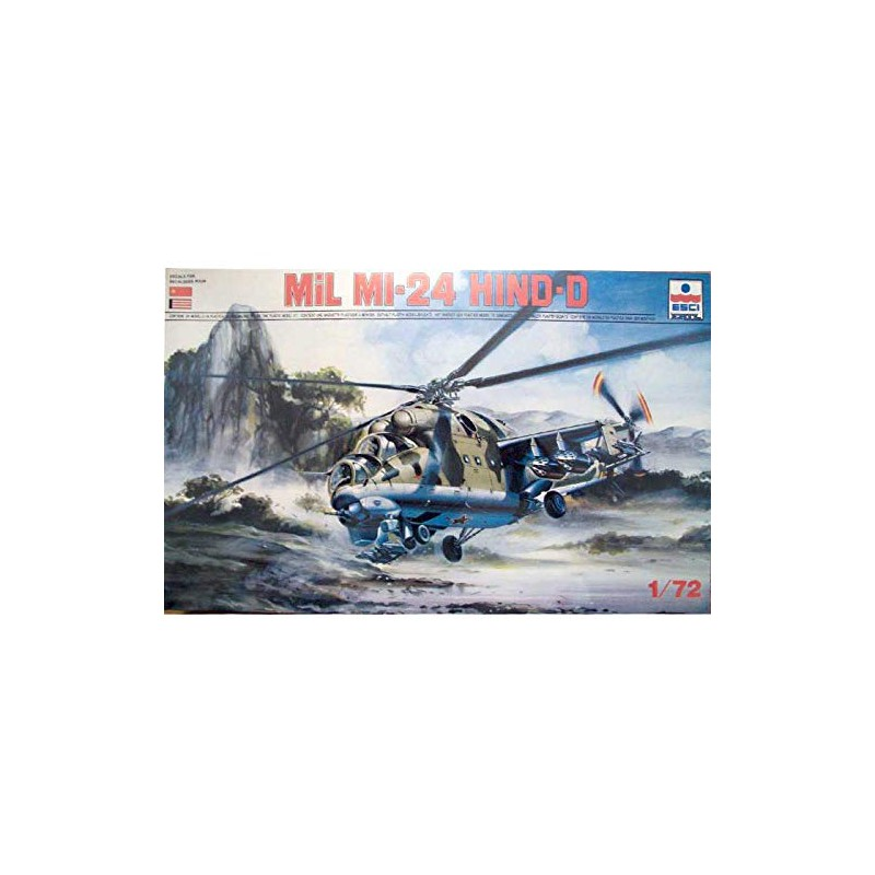 Esci Mil Mi-24 Hind-D Kit Elicottero Helicopter Scala 1 72 Art 9069 Made in Italy