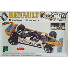 Protar Renault Turbo RE23 Turbo Jabouille Arnoux Rare Metal Kit Scala 1 12 MOD. 170-M