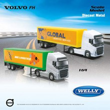 Modellino Camion Weely Volvo FH 600 Truck Transorter Scala 1 64 Die Cast Metal