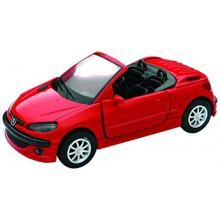 Modellino Auto Peugeot 206 CC Rosso RED Scala 1 32 Welly