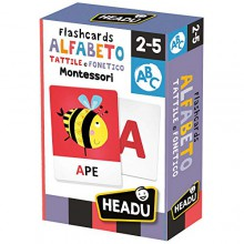 Gioco Educativo Montessori Alfabeto Tattile e Fonetico Flashcards