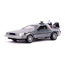 Modellino Auto Ritorno al Futuro 2 con Luci Scala 1 24 Delorean Macchina del Tempo