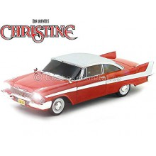 Modello Auto Plymouth Fury dal film CHRISTINE Macchina Infernale Scala 1:18 Diecast NIGHT TIME Version AUTOWORLD